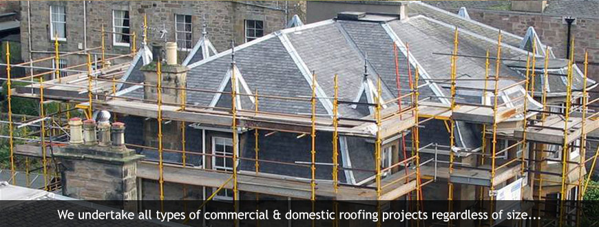 Storm Damage Repairs Being Carried Out Edinburgh Roofing Services